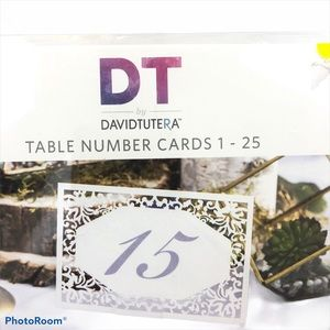 Brand New David Tutera Table Number Cards 1-25